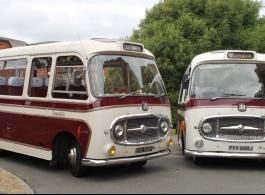 Vintage wedding buses in East Sussex